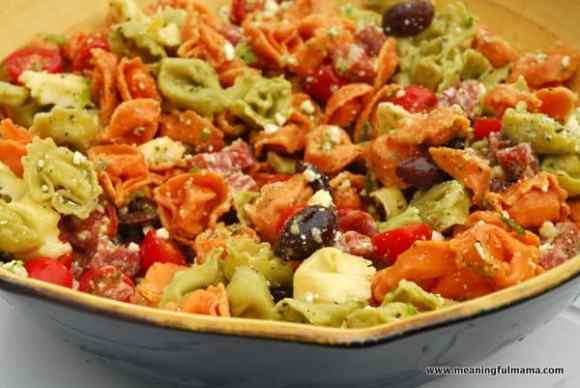 1-#tortellini pasta salad #recipe-004