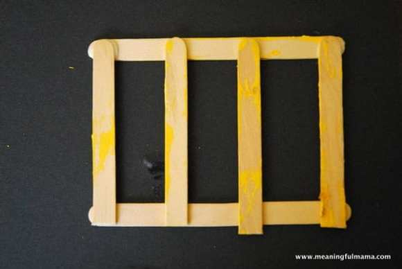 1-#school bus #Popsicle sticks #craft-009