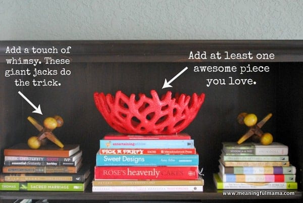 1-#book case makeover 1 #how to decorate a bookcase-019
