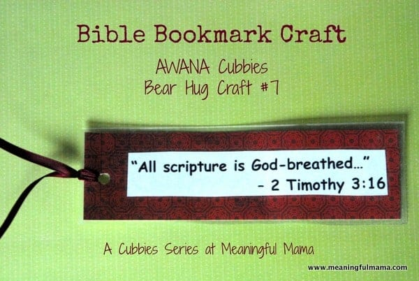 1-#bookmark craft #kids #cubbies bear hug 7 #awana-019