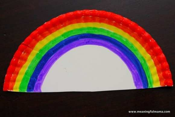1-#rainbow paper plate craft #cubbies bear hug #8 #awana-002