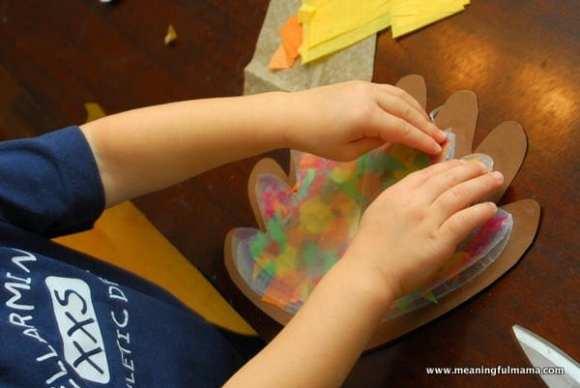 1-#thanksgiving turkey #craft #footprint #craft for kids-024