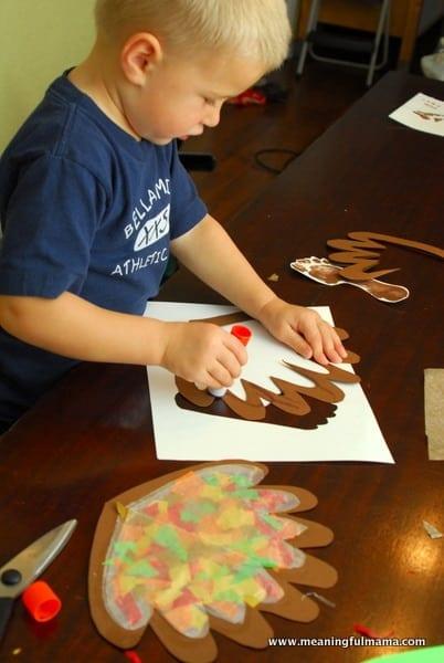 1-#thanksgiving turkey #craft #footprint #craft for kids-025