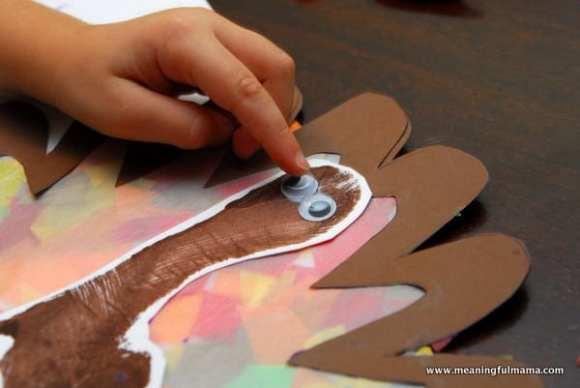 1-#thanksgiving turkey #craft #footprint #craft for kids-029