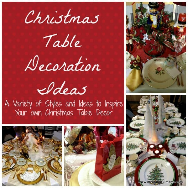 1-#christmas #table #decoration #ideas