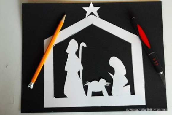 1-#nativitycraft 2 #nativty #stainedglass #Christmas #craft-014