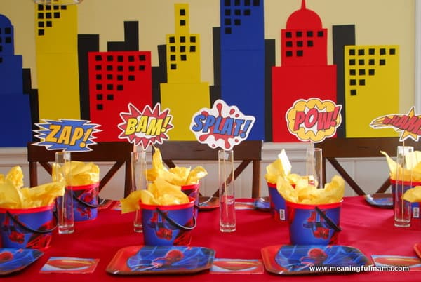 1-#superhero birthday party #ideas #3 year old-051