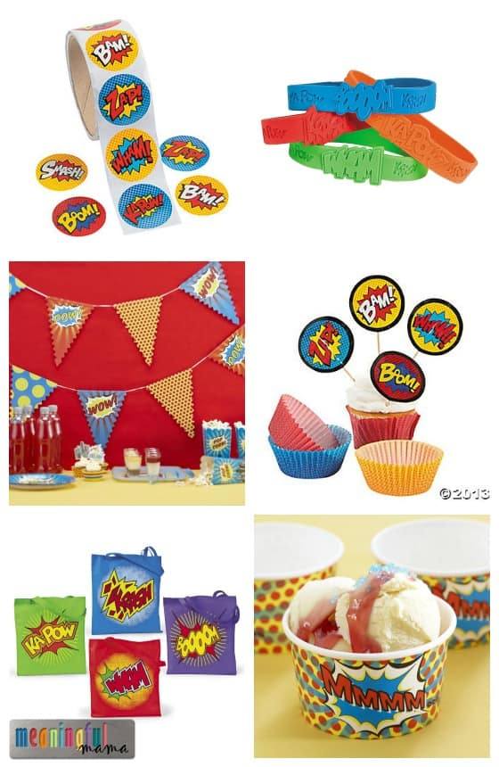 Superhero Party - Word Bubble Decorations