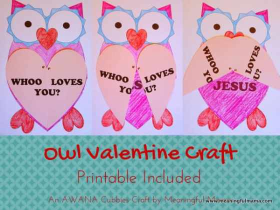 1-#owl valentine craft cubbies
