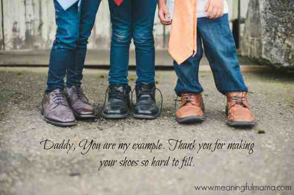 Father's Day Photography Ideas shoes