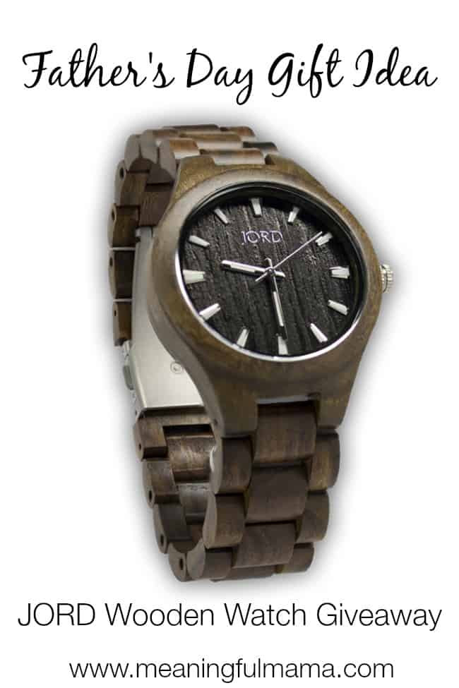father's day gift idea jord wooden watches