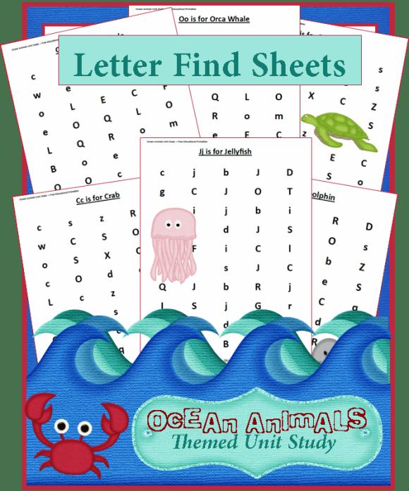 Letter-Find-Sheets
