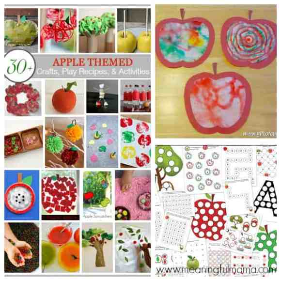 apple crafts and activities kids