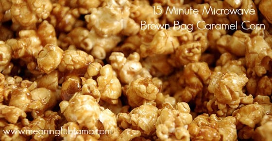 microwave brown bag popcorn