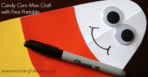 candy corn man craft printable