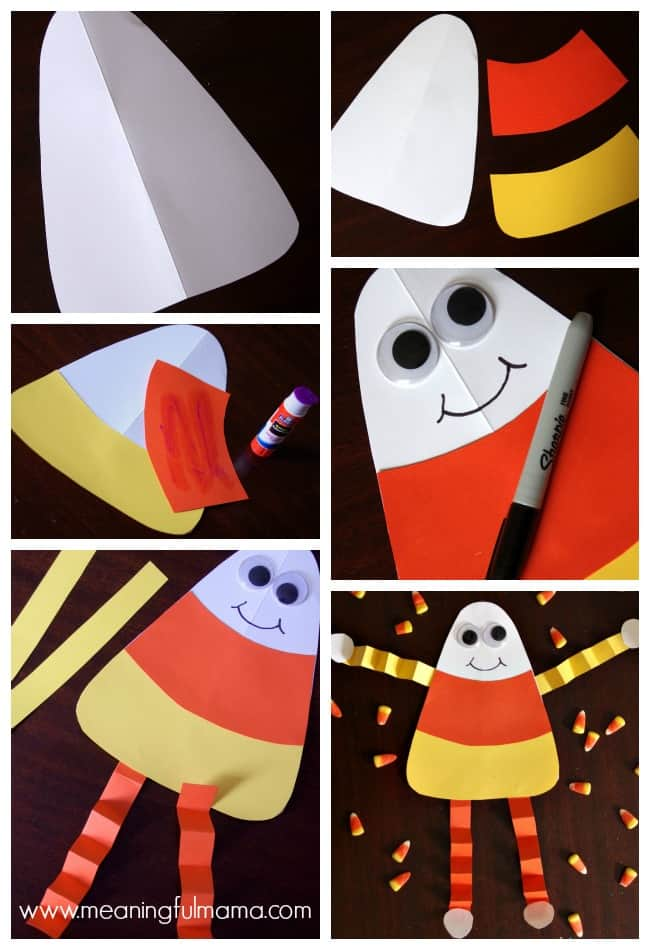candy corn man craft tutorial