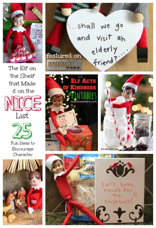 elf on the shelf ideas alternative nice kindness