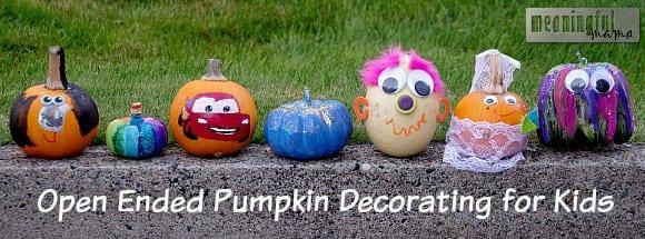 no carve pumpkin decorating ideas kids