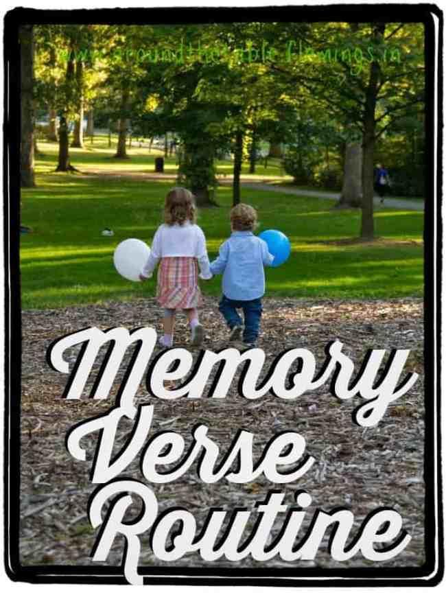 teaching memory verses to kid