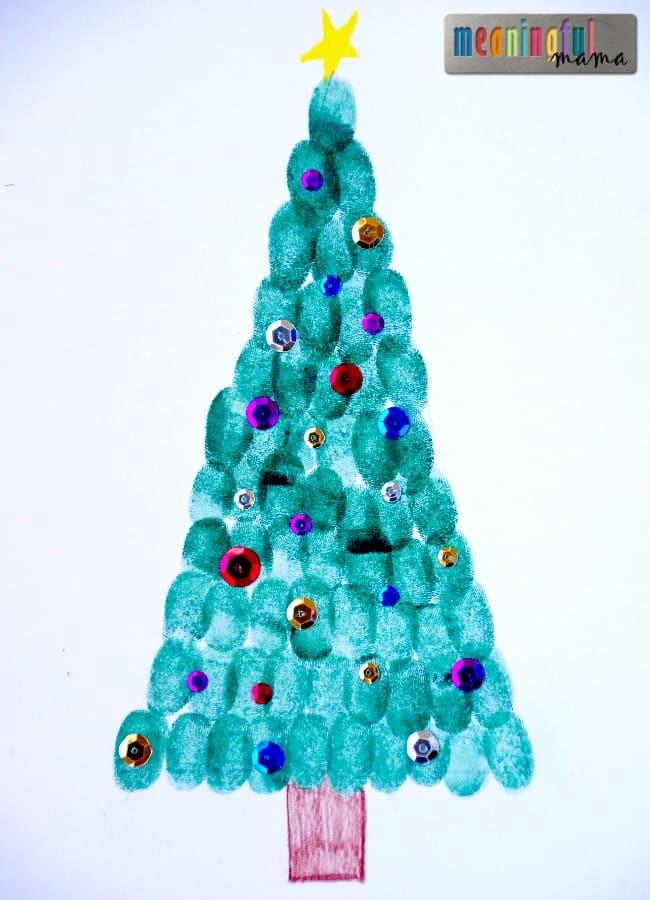 Fingerprint Christmas Trees