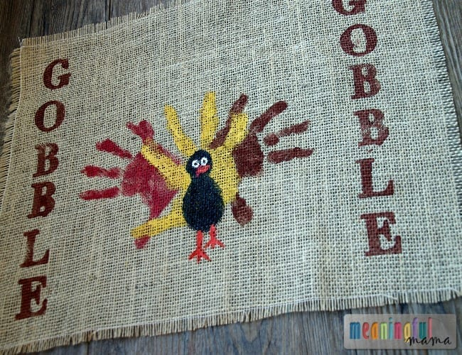 diy thanksgiving placemats kids hands