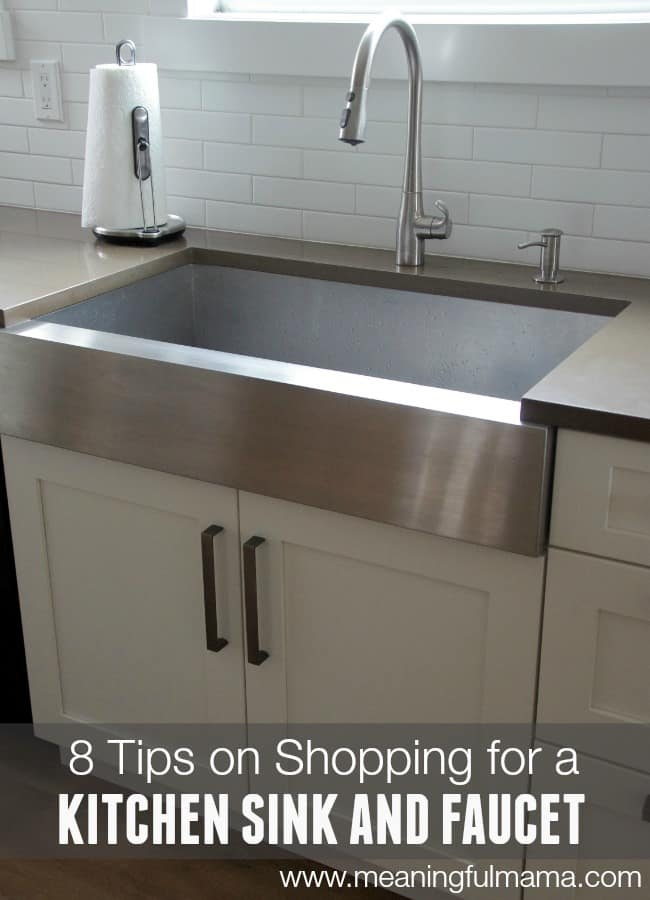 8 tips on shopping for a kitchen sink