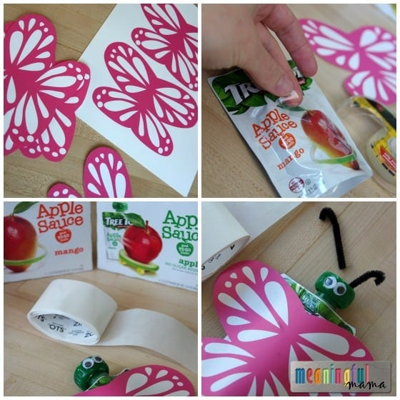 Tree Top Butterfly Food Pouches - Ideas for Butterfly Party
