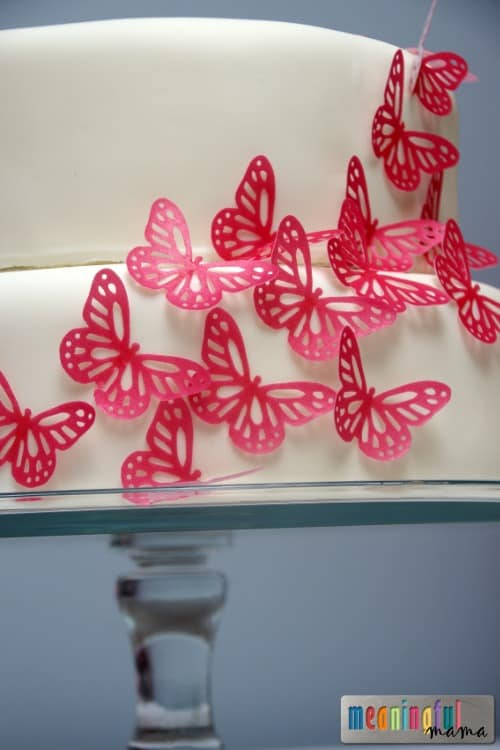 Simple Pink Butterfly Cake Butterfly Birthday Cake Tutorial   Pink Butterfly Birthday Party