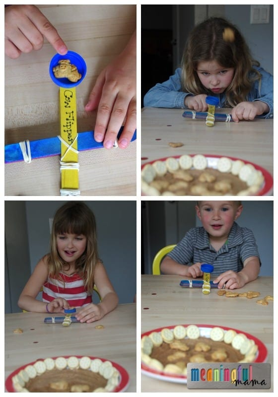 Cow Catapult - Cow Flipping and Snacking Fun