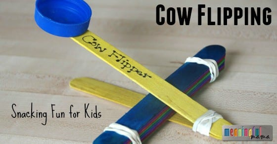 How to Make Snacking Fun for Kids - Cow Flipping Activity