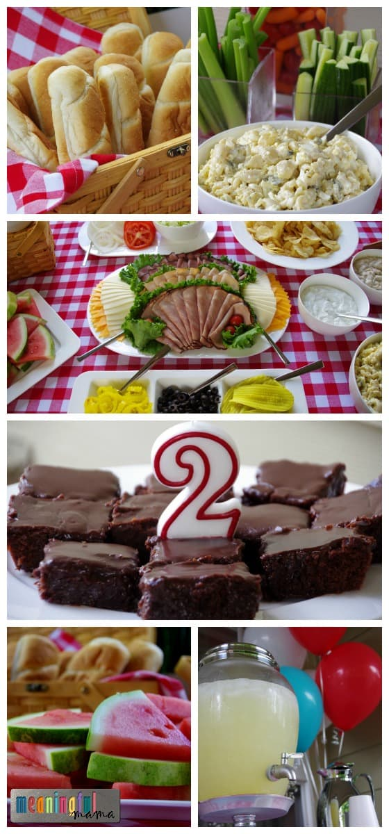 Food for a Picnic Party - 2 Year Old Birthday Party Ideas