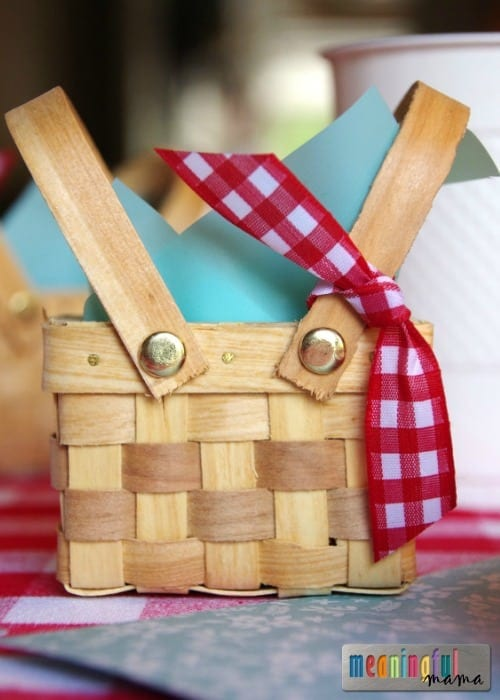 Picnic Birthday Party Favors