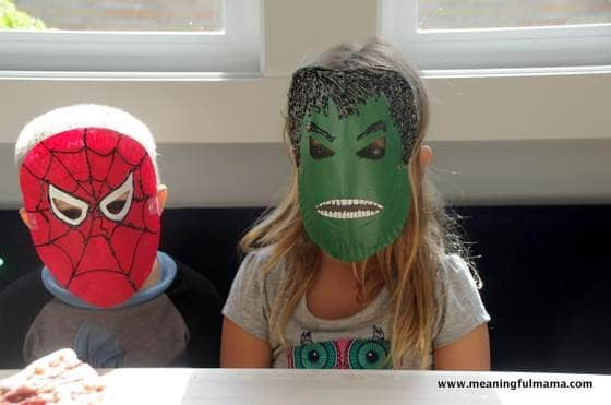 Mask Superhero Birthday Cake