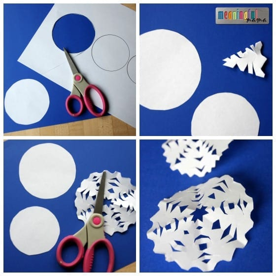 Snowflake Snowman Craft for Elementary Kids