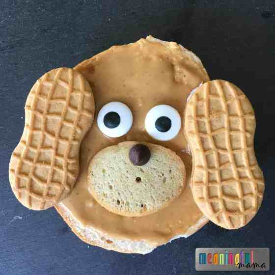 bagel-breakfast-ideas-for-kids-puppy