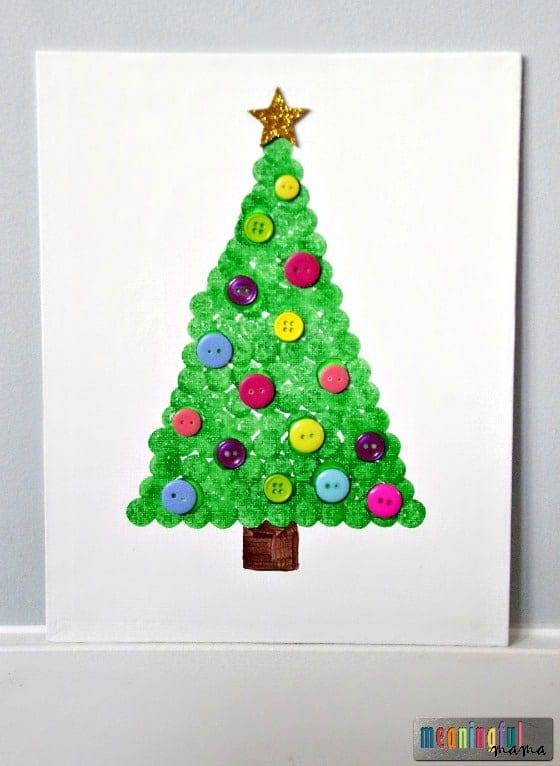 christmas-tree-dot-art-craft-on-canvas-nov-23-2016-3-54-pm