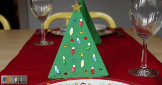 easy-christmas-tree-paper-napkins
