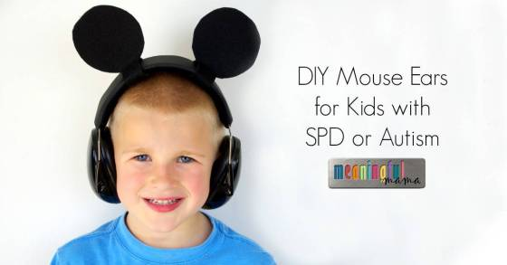 DIY Mickey Mouse Ears for Kids with SPD or Autism