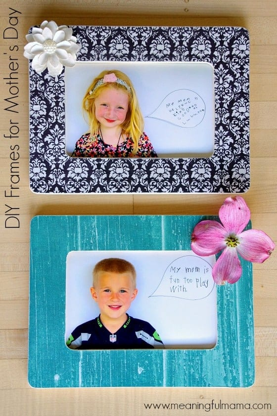 DIY Mother's Day Frames for Kindergarten Classroom Project