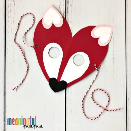 Download the fox template, print and cut out the pieces. Valentine S Day Fox Craft For Kids With A Free Printable