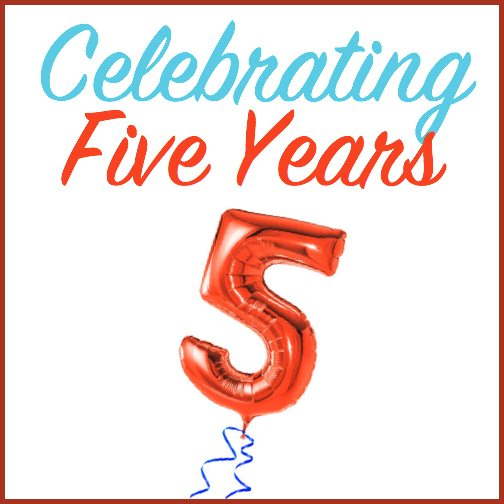 |Celebrating Five YEars header