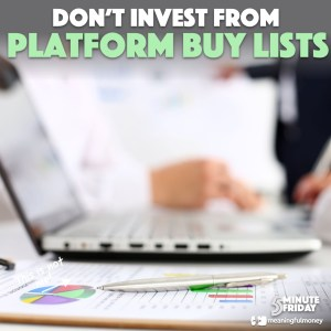 DON'T invest from platform buy lists! – 5MF055