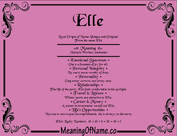 Elle - Meaning of Name