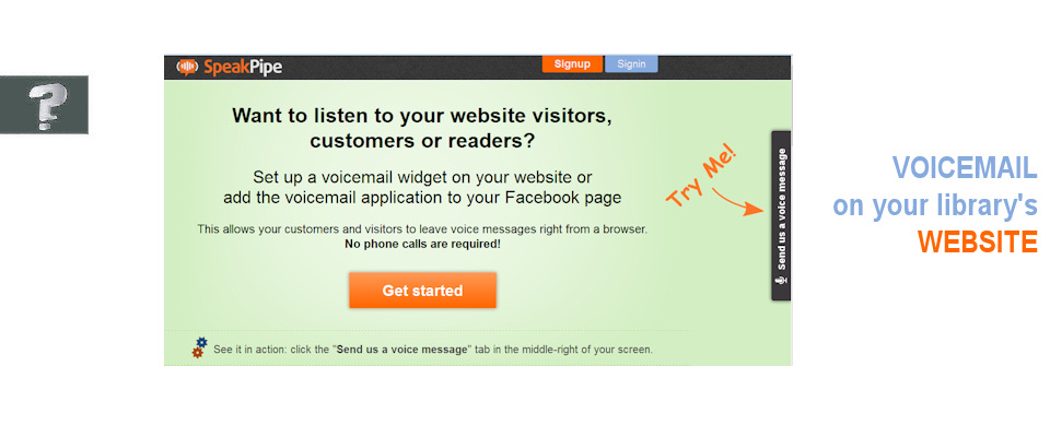 Voicemail on your library's website
