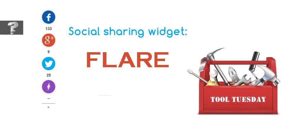 Social sharing widget Flare tool Tuesday