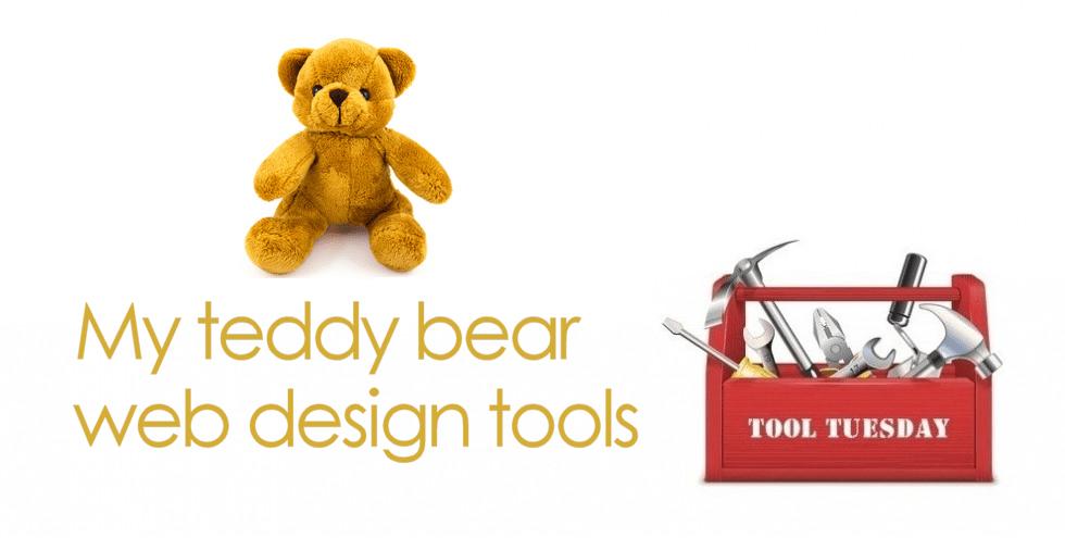 My teddy bear web design tools