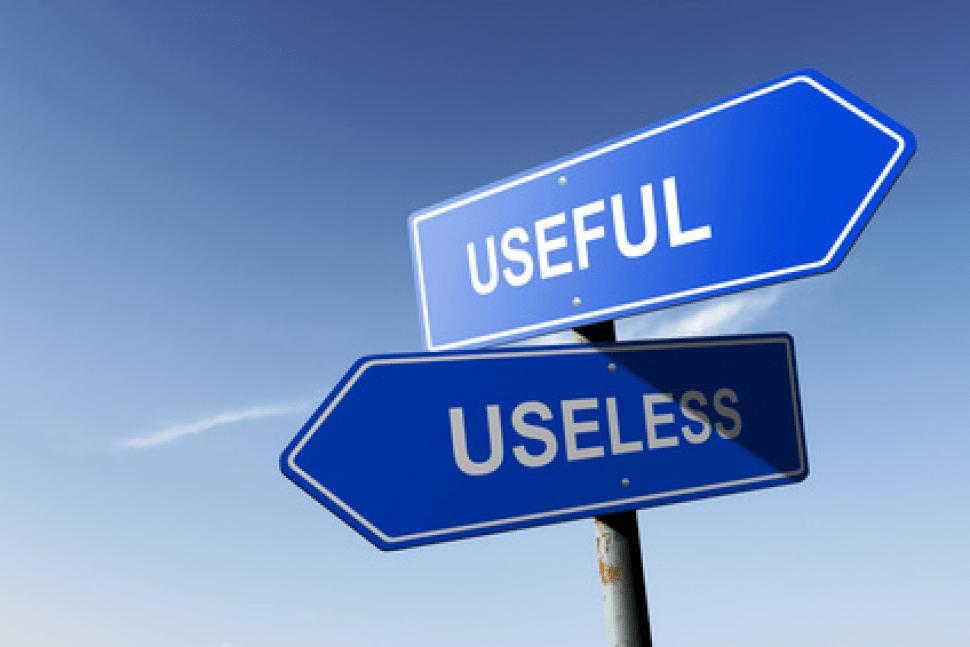 Useful and useless street signs