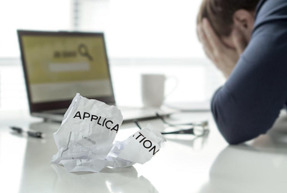 Frustrated human job applicant