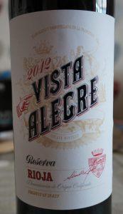 Vista Alegre label