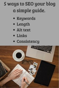 5 ways to SEO your blog a simple guide pin